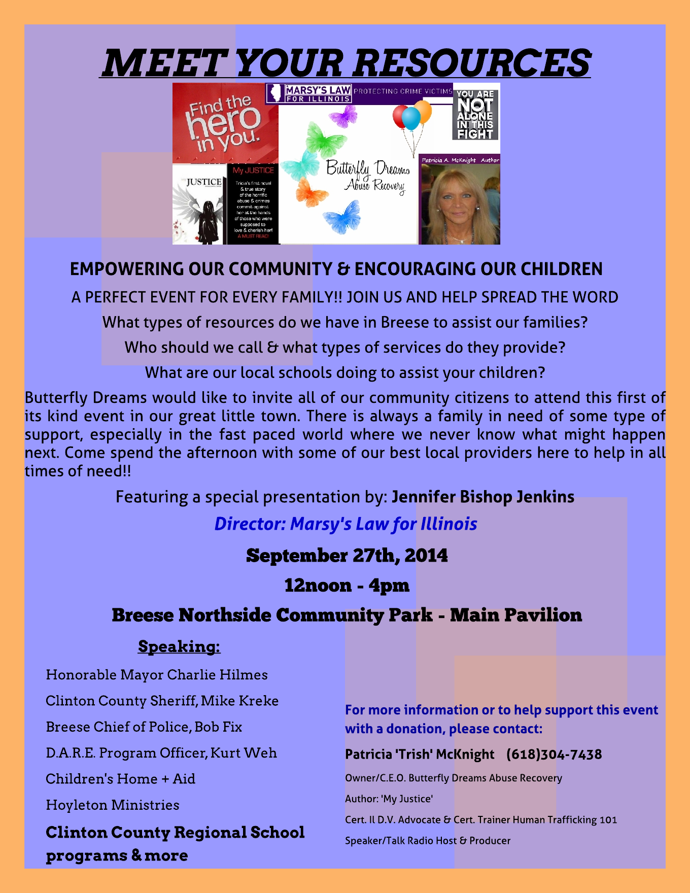 Illinois clinton county aviston - Butterfly Dreams Presents Meet Your Resources Patricia Mcknight My Justice