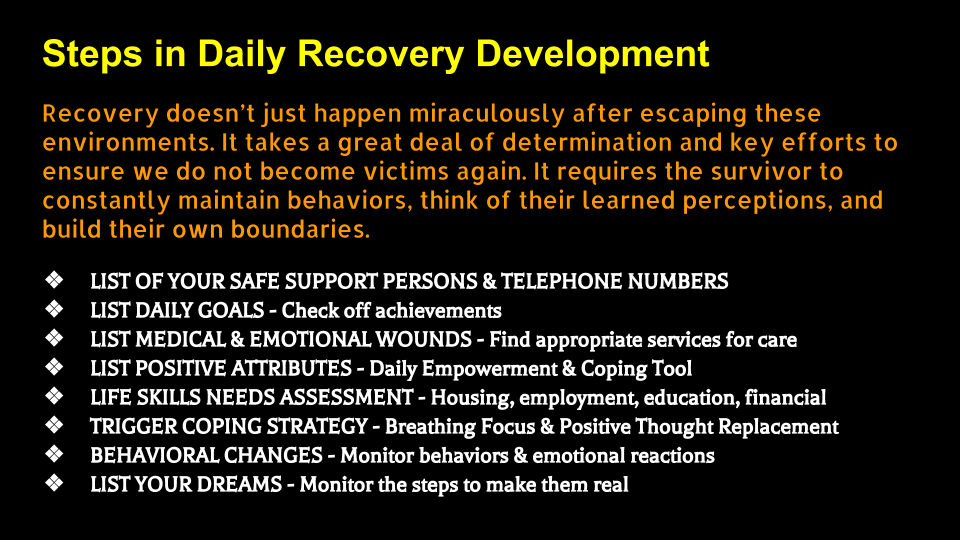 recovery steps